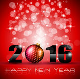 2016 Happy New Year and Merry Christmas Background. For Seasonal Greetings Cards, Parties Flyer Stock Photos