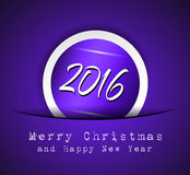 2016 Happy New Year and Merry Christmas Background. For Seasonal Greetings Cards, Parties Flyer, Dineer Event Invitations, Xmas Cards and sp on Stock Illustration