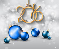 2016 Happy New Year and Merry Christmas Background. For Seasonal Greetings Cards, Parties Flyer, Dinner Event Invitations, Xmas Cards and so on Stock Image