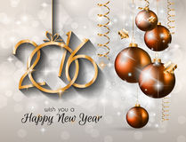 2016 Happy New Year and Merry Christmas Background. For Seasonal Greetings Cards, Parties Flyer, Dinner Event Invitations, Xmas Cards and so on Royalty Free Illustration