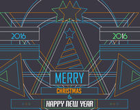 2016 Happy New Year and Merry Christmas Background. For Seasonal Greetings Cards, Parties Flyer, Dinner Event Invitations, Xmas Cards and so on Royalty Free Stock Image