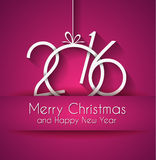 2016 Happy New Year and Merry Christmas Background. For Seasonal Greetings Cards, Parties Flyer, Dinner Event Invitations, Xmas Cards and so on Stock Images
