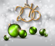 2016 Happy New Year and Merry Christmas Background. For Seasonal Greetings Cards, Parties Flyer, Dinner Event Invitations, Xmas Cards and sp on Stock Photography
