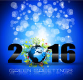 2016 Happy New Year and Merry Christmas Background. For Seasonal Greetings Cards, Parties Flyer, Dinner Event Invitations, Xmas Cards and sp on Stock Photo
