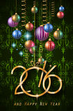 2016 Happy New Year and Merry Christmas Background. For Seasonal Greetings Cards, Parties Flyer, Dinner Event Invitations, Xmas Cards and sp on Royalty Free Stock Images