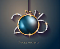 2016 Happy New Year and Merry Christmas Background. For Seasonal Greetings Cards, Parties Flyer, Dinner Event Invitations, Xmas Cards and sp on Stock Images