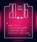 2016 Happy New Year and Merry Christmas Background. For Seasonal Greetings Cards, Parties Flyer, Dinner Event Invitations, Xmas Cards and sp on Royalty Free Stock Photo