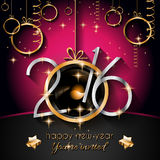 2016 Happy New Year and Merry Christmas Background Royalty Free Stock Image