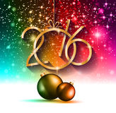 2016 Happy New Year and Merry Christmas Background. For your seasonal wallpapers, greetings card, dinner invitations, pary flyers, covers and so on Stock Photography