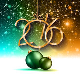 2016 Happy New Year and Merry Christmas Background. For your seasonal wallpapers, greetings card, dinner invitations, pary flyers, covers and so on Royalty Free Stock Image