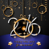 2016 Happy New Year and Merry Christmas Background Stock Photography