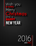 2016 Happy New Year and Merry Christmas Background. For your seasonal wallpapers, greetings card, dinner invitations, pary flyers, covers and so on Royalty Free Stock Photo
