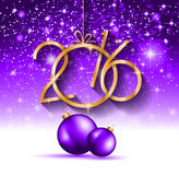 2016 Happy New Year and Merry Christmas Background. For your seasonal wallpapers, greetings card, dinner invitations, pary flyers, covers and so on Stock Images