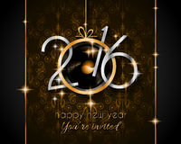 2016 Happy New Year and Merry Christmas Background. For your seasonal wallpapers, greetings card, dinner invitations, pary flyers, covers and so on Royalty Free Stock Photos