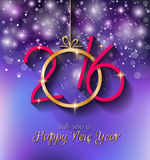 2016 Happy New Year and Merry Christmas Background Stock Image