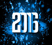 2016 Happy New Year and Merry Christmas Background Stock Images