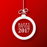 2017 Happy New Year and Merry Christmas Ball. 