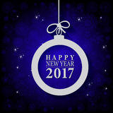 2017 Happy New Year and Merry Christmas Ball. Greeting card or background Royalty Free Illustration