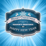 Happy New Year And Merry Christmas Banner Royalty Free Stock Images