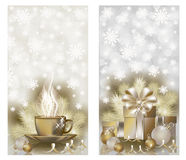 Happy New year & Merry Christmas banners Stock Photography