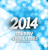 Happy new year 2014 for merry christmas beautiful. Background Vector Illustration