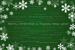 Happy new year and merry christmas card Royalty Free Stock Image