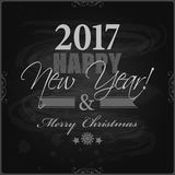 2017 Happy New Year and Merry Christmas card or background. Royalty Free Stock Photography