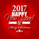 2017 Happy New Year and Merry Christmas card or background. Stock Photography