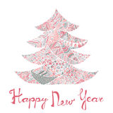 Happy new year and merry christmas card. Royalty Free Stock Photos