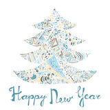 Happy new year and merry christmas card. Stock Photography