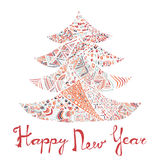 Happy new year and merry christmas card. Stock Image