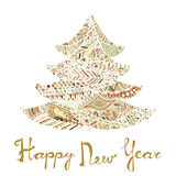 Happy new year and merry christmas card. Royalty Free Stock Image