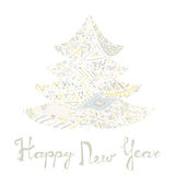 Happy new year and merry christmas card. Royalty Free Stock Photography