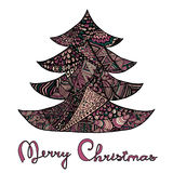 Happy new year and merry christmas card. Royalty Free Stock Photo