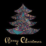 Happy new year and merry christmas card. Stock Images
