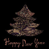 Happy new year and merry christmas card. Royalty Free Stock Images