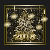 Happy New Year 2018_2 royalty free stock photos