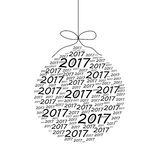 Happy New Year and Merry Christmas card with numbers 2017 poster. Invitation, flyer. Vector illustration vector illustration