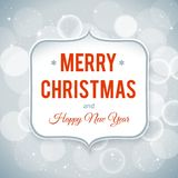 Happy New Year and Merry Christmas card. Vector illustration Stock Photos