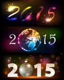 2015 happy new year. 2015 Merry Christmas and happy new year celebration background for your posters. Brightly Colorful Vector Fireworks and Salute- vector  on Royalty Free Stock Photo