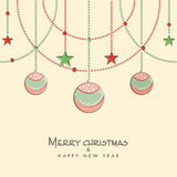 Happy New Year and Merry Christmas celebration concept. Royalty Free Stock Images