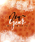 Happy New Year and Merry Christmas concept greeting card design. Stock Photos