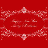 Happy new year and Merry Christmas Royalty Free Stock Photos