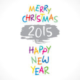 Happy new year 2015 and merry christmas design stock illustration