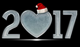 Happy new year and merry Christmas 2017 Royalty Free Stock Photo