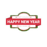 Happy New Year Merry Christmas Greeting Card Decoration Laber Web Icon Royalty Free Stock Photo