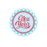Happy New Year Merry Christmas Greeting Card Decoration Laber Web Icon Stock Photography