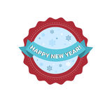 Happy New Year Merry Christmas Greeting Card Decoration Laber Web Icon Royalty Free Stock Image