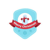 Happy New Year Merry Christmas Greeting Card Decoration Laber Web Icon Stock Photo