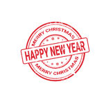 Happy New Year Merry Christmas Greeting Card Decoration Laber Web Icon Stock Photos